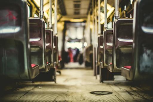 Public bus aisle