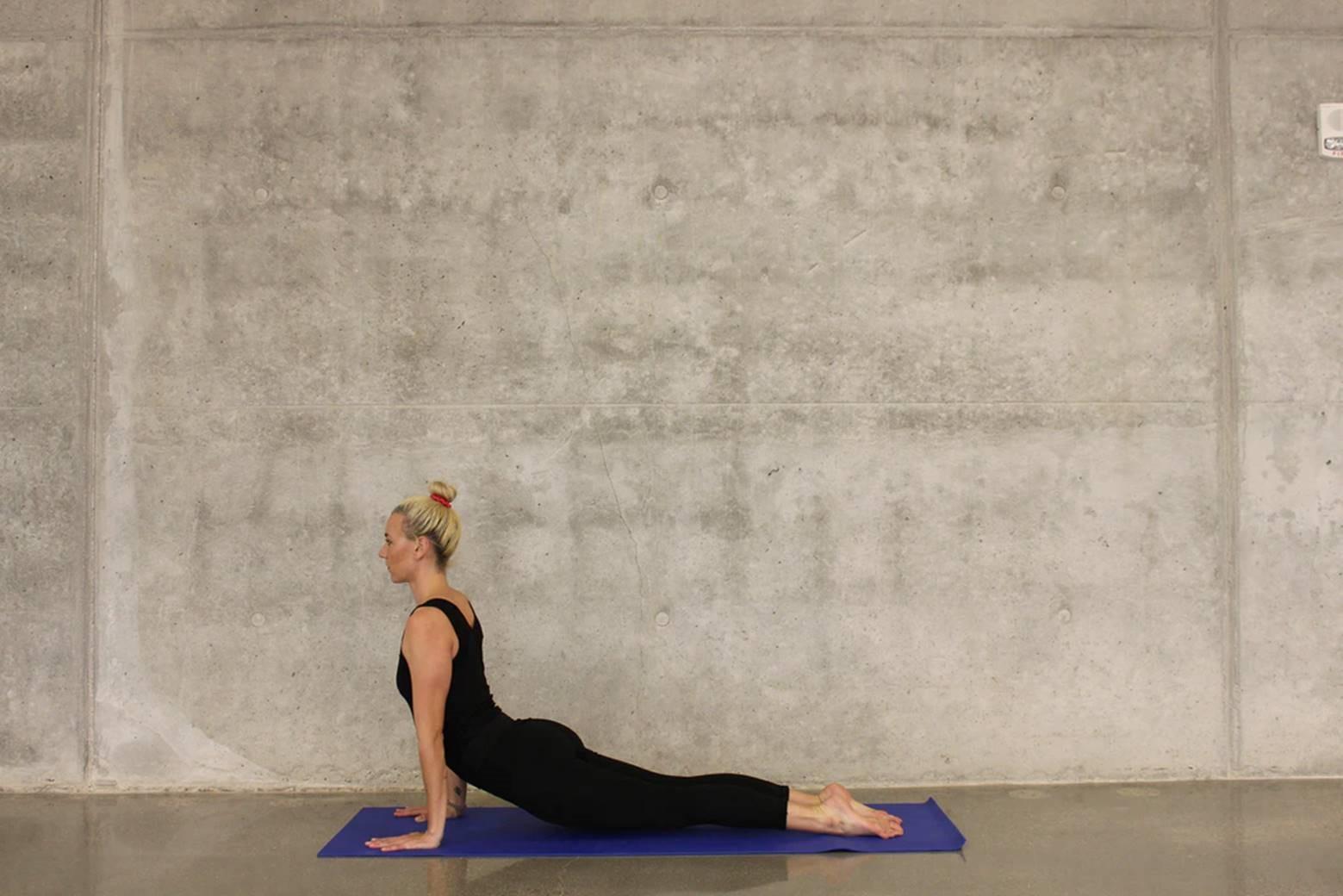 Lady doing a yoga pose